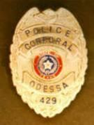 1969 to 1984 Odessa Police Badge